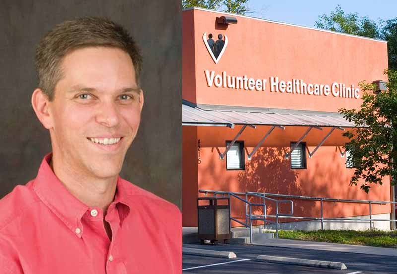 Dr. Ambler volunteers and the Volunteer Healthcare Clinic