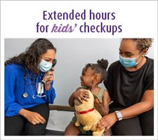 Extended hours for kids' checkup